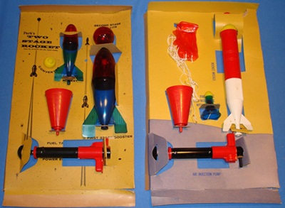 Modern Water Rockets can trace their history to the Park Plastics toy rocket.
